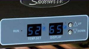 Danby DWC153BLS two-zone wine refrigerator control panel