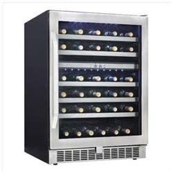 Danby 51 bottle dual zone wine cellar, DWC153BLSST