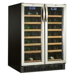 danby 54-bottle, Dual-Zone wine cooler with double door