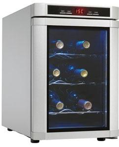 danby 6bottle wine cooler-DWC620 PL-SC