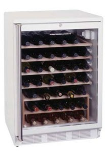 Summit 51-bottle stainless steel 1-zone wine fridge, Model SWC6GWLS