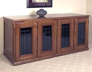 Vinotheque wine credenza with 4 doors