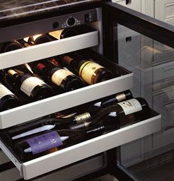 GE Monogram Wine Cabinets-Shelving