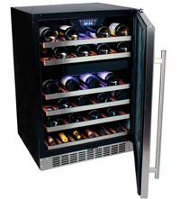 EdgeStar 46-bottle Dual-Zone Wine Refrigerator, Model CWR460DZ