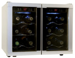 haier HVUE12DBSs 12 bottle wine cooler