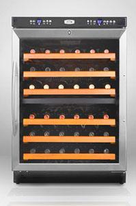 Summit SWC530LBI 46-Bottle Dual Zone Wine Cooler