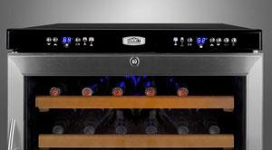 Summit SWC530LBI 46-bottle wine cooelr, Digital Controls