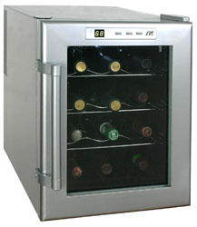 Sunpentown 12-bottle thermoelectric wine cooler - WC 12 model