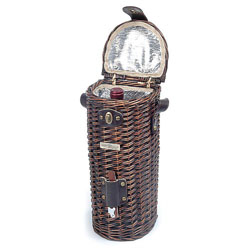 Vineyard Willow Dark Wine Cooler Basket