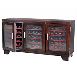 Wine Enthusiast Tribeca 60-bottle wooden wine cabinet